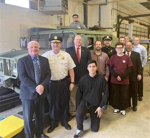 Vocational Students Receive Humvee