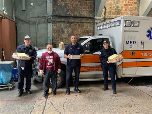 Food donation to McCabe Ambulance