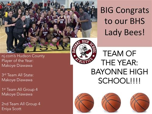 BHS Lady Bees Win Big in Hudson County!