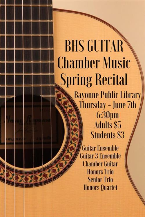 Spring Chamber Music Recital Poster